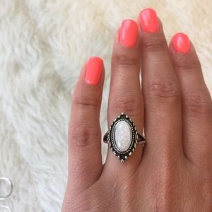 White Stone Ring 6